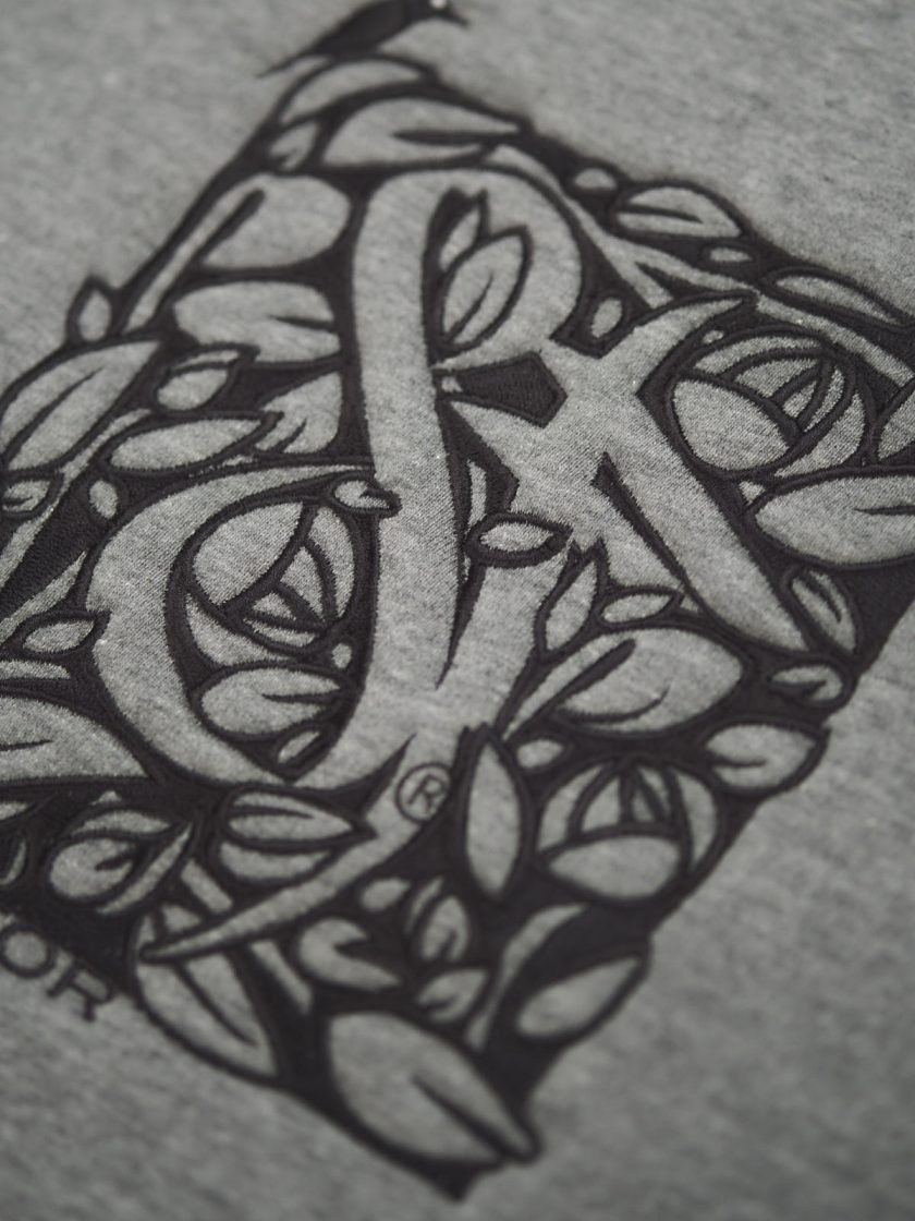 melange grey florian sweatshirt detail