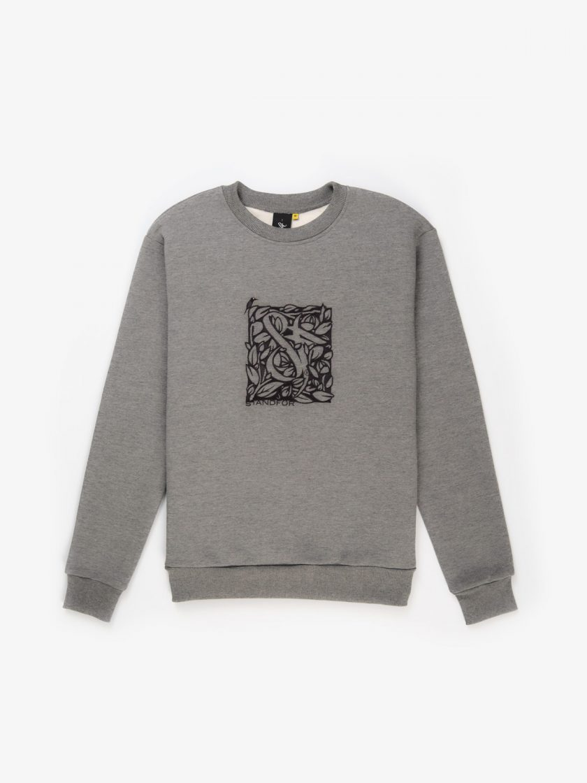 sf florian melange grey sweatshirt flock design