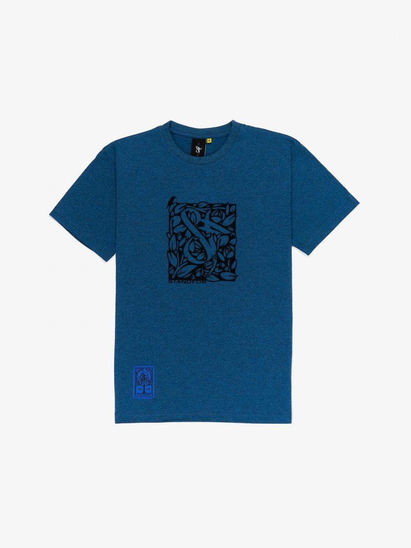 sf florian tee melnage blue flock design