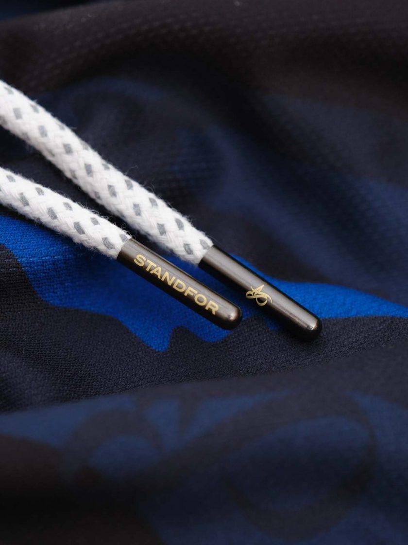 mono blue camo short laces
