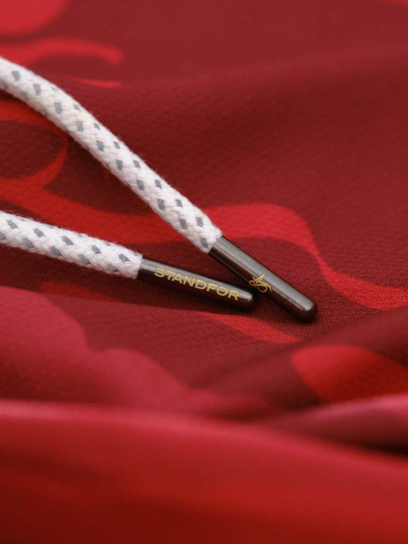 mono red camo short laces