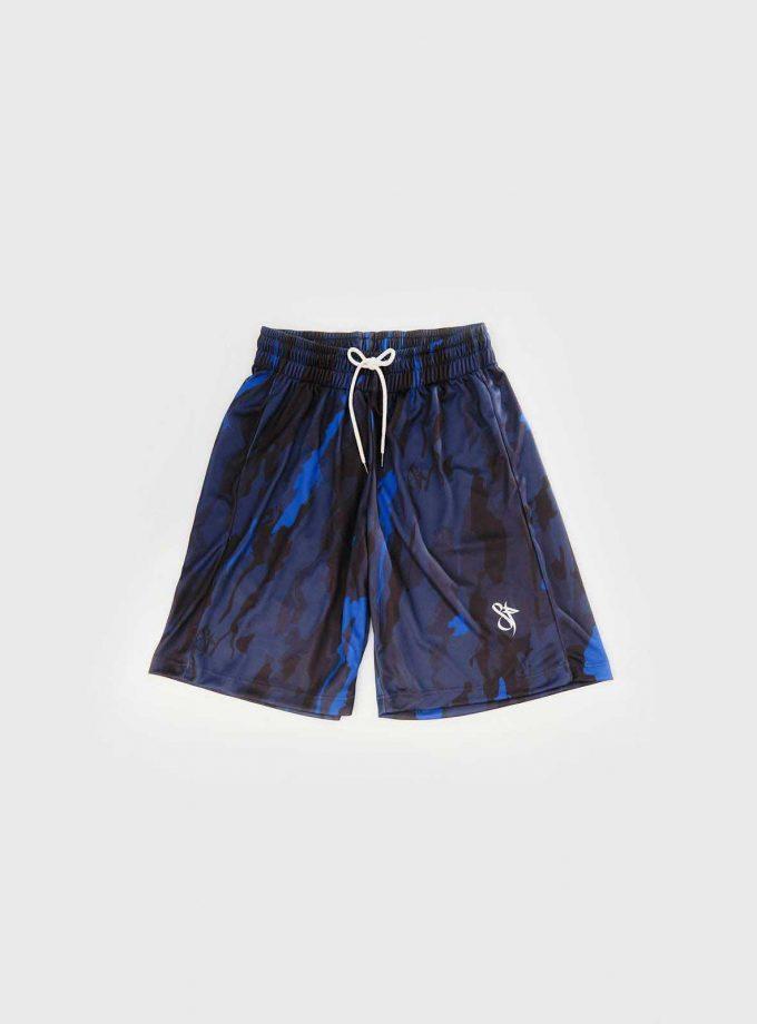 sf mono blue camo short front