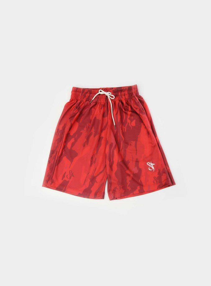 sf mono red camo short front