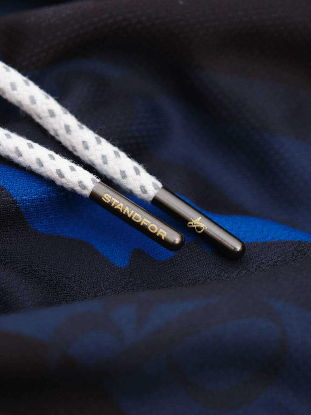 mono blue camo basketball short laces
