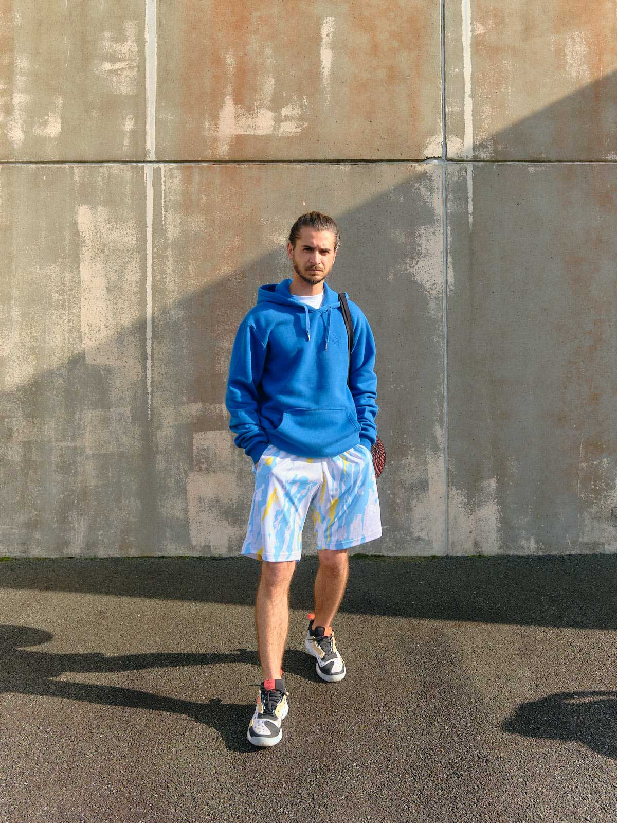 winter russian camo basketball short model front vertical picture